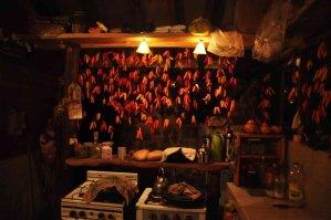 Chilischoten werden in Aldea Luna selbst angebaut - und ergeben die berühmte Chili-Sauce