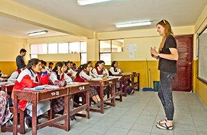 Englisch unterrichten in Peru.